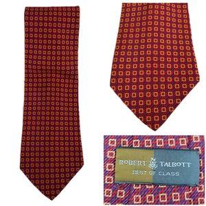 Robert Talbott Mens Silk Tie Best of Class Red